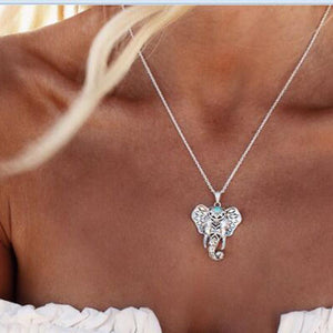 Vintage Elephant Pendant Necklace XL0151 Chain Necklaces