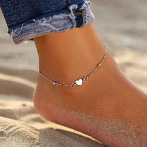 Vintage Gold Silver Multilayer Bohemian Anklets with Moon, Map Beads Leaves FCS043A3 Anklets