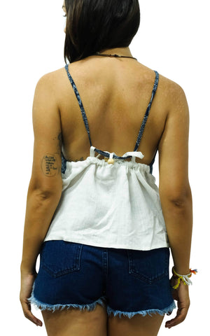 White Aztec Tie Back Top M / White Women - Apparel - Dresses - Casual