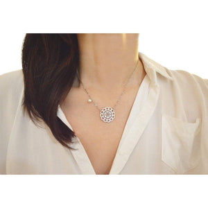White gold  lace necklace Women - Jewelry - Necklaces