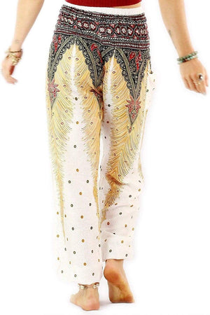White Peacock Harem Pants Standard / White Harem Pants
