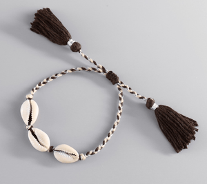 White Shell Beach  Bracelets Brown Charm Bracelets