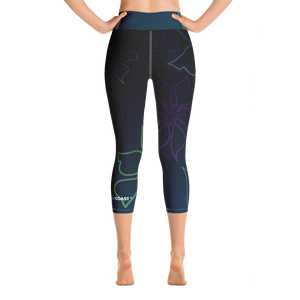 Women's Active Comfort Sport A L O H A  Capri Leggings Women - Apparel - Activewear - Leggings