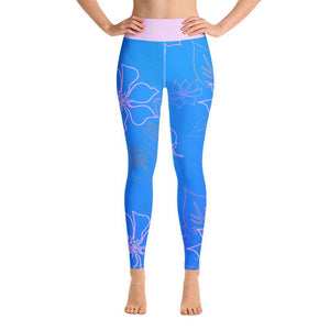 Women's Active Comfort Sport Aloha Full Length Leggings XS / Blue Women - Apparel - Activewear - Leggings