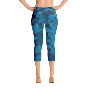 Women's Find Your Coast O.U.R. Outdoors Camo All Day Comfort Capri Leggings XS / Blue Women - Apparel - Activewear - Leggings