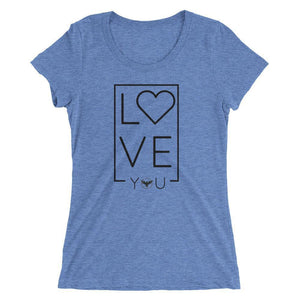 Women's LOVE Triblend Tee S / Blue Women - Apparel - Shirts - T-Shirts
