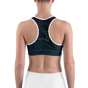 Women's Moisture Wicking A L O H A Sports Bra (white & black piping) Women - Apparel - Activewear - Sports Bras