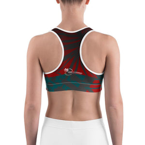 Women's Moisture Wicking Nadine Sports Bra (white & black piping) Women - Apparel - Activewear - Sports Bras