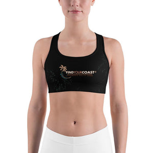 Women's Moisture Wicking Trademark Sports Bra (white & black piping) Black / XS Women - Apparel - Activewear - Sports Bras