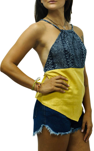 Yellow Aztec Tie Back Top M / Yellow Women - Apparel - Dresses - Casual