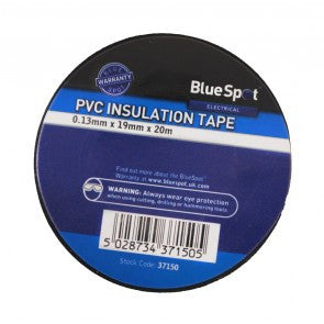 BlueSpot 20m Black Electrical Insulation Tape