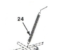 Extension Spring for Knotter Slacker Arm