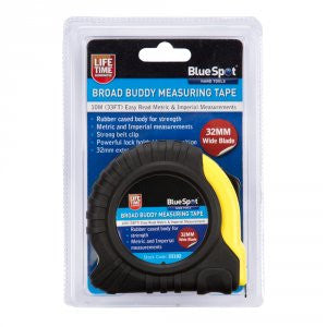 BlueSpot 10m Extra-Wide Blade Tape Measure