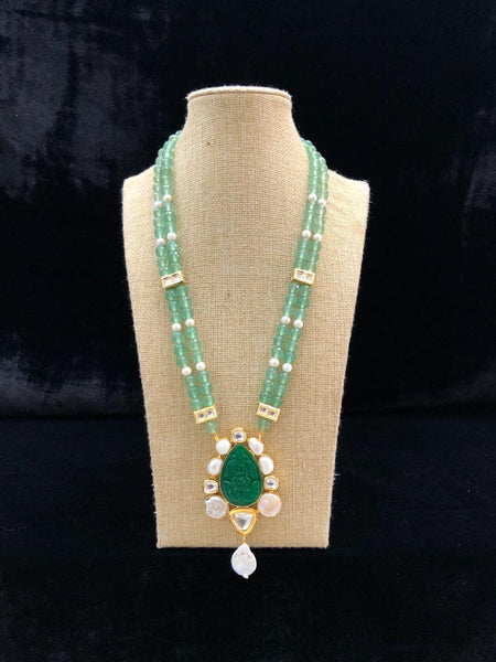Captivating Green Baroque Pearl Alluring Pendant Necklace