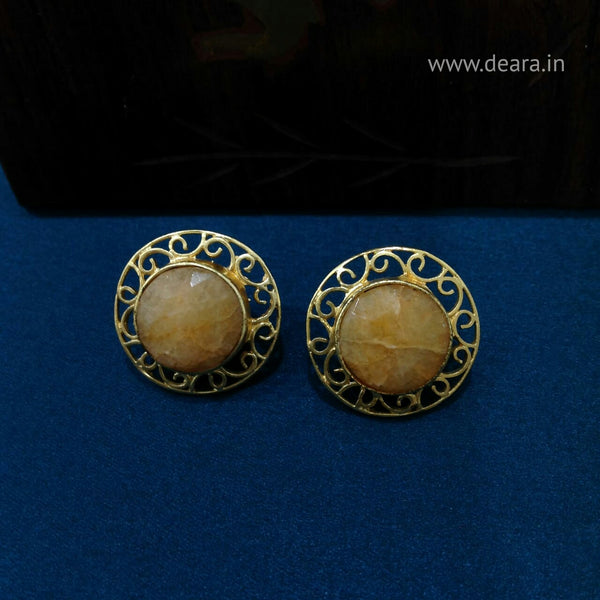 Glam Sun Dials Stud Earrings