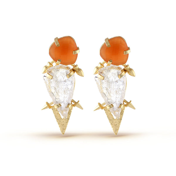 Orange Gemstones Earrings!