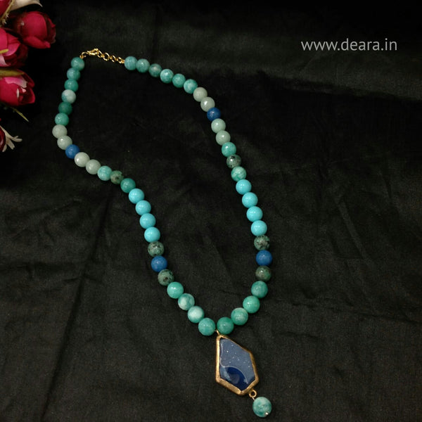 Splendid Shades of Blue Gemstones Necklace