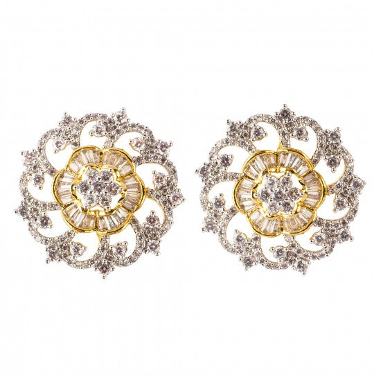 Floral Radiance Stud Earrings