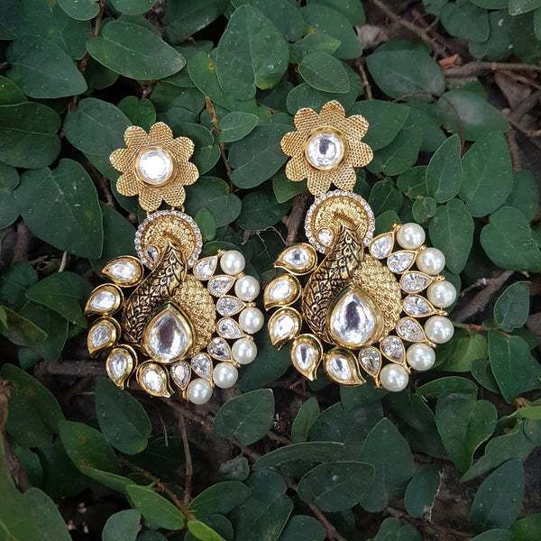 Breathtaking Kundan and CZ Long Earrings