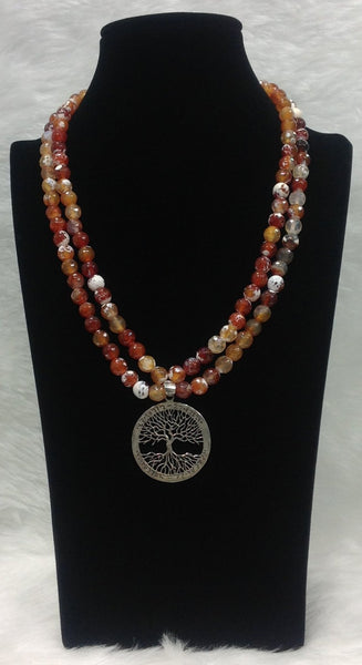 Brown and White Shaded Necklace