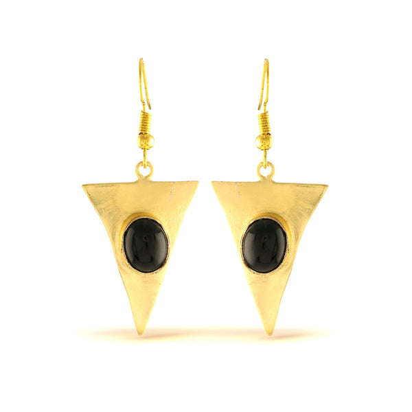 Black Onyx Gemstone Drop Earrrings