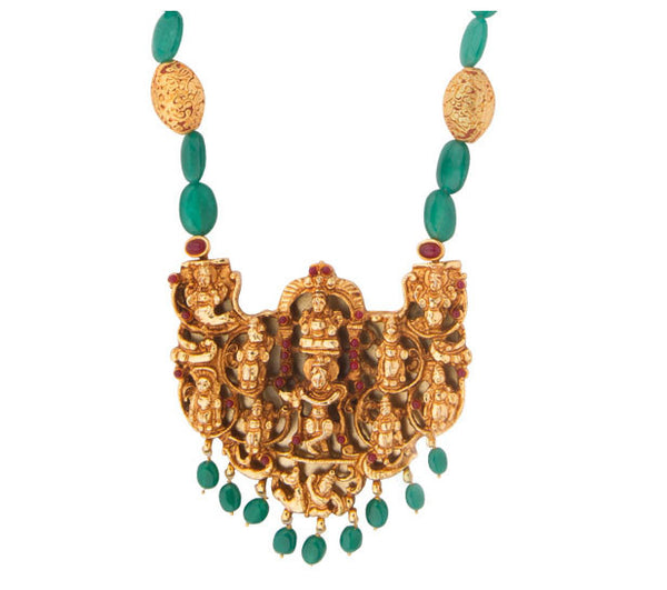 Krishna Pendant Temple Necklace