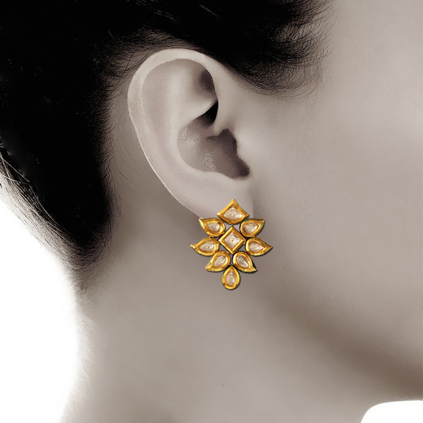 Kundan Kite Stud Earrings