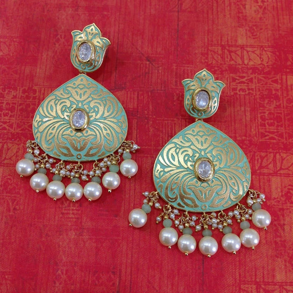 Blossom Seafoam Green Meena Art Earrings