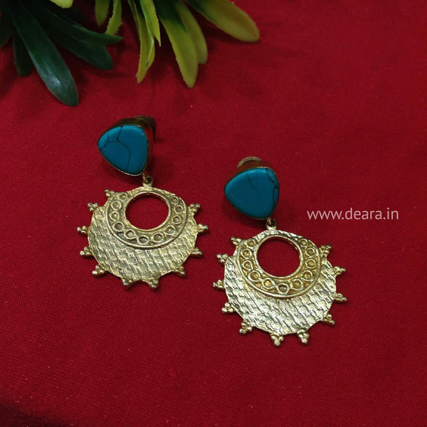Plates of Gold Chandbali Earrings
