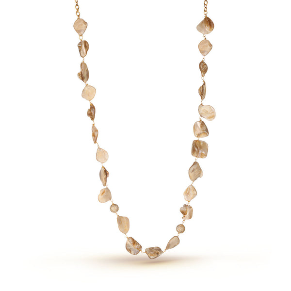 Grey Mother of Pearl Necklace