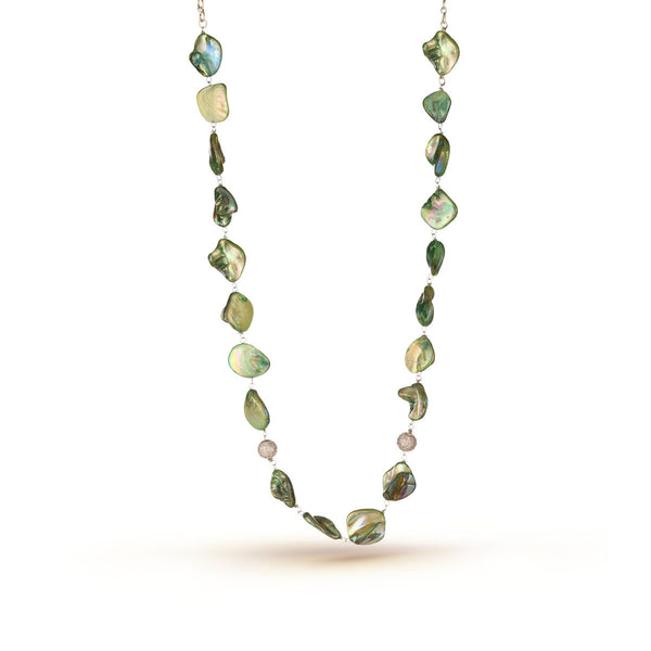 Green Mother of Pearl Necklace