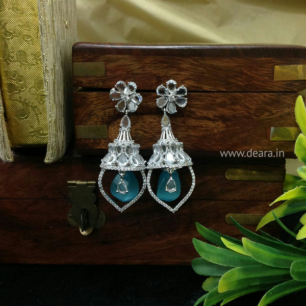 Heart-Warming Light Blue Dangling Earrings