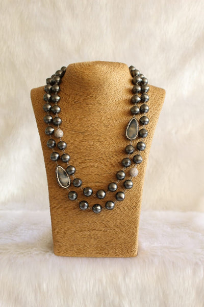 Beauticious Black Pearls Necklace