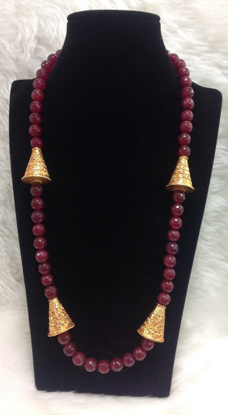 Radiant in Red & Geru Necklace