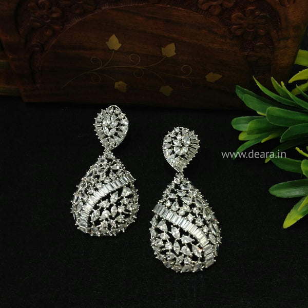Tantalizing Tear Drop Crystal Long Earrings