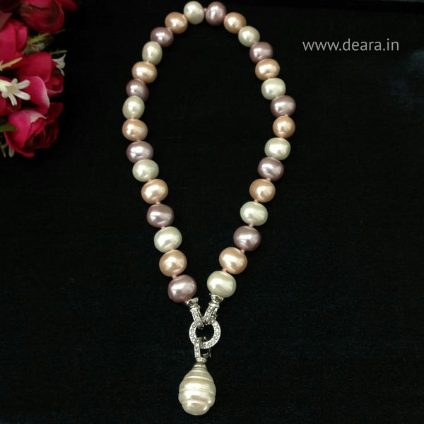 Multicolour Shell Pearl Necklace