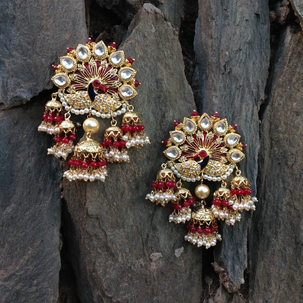Magnificent Pleasing Peacock Jhumka Earrings