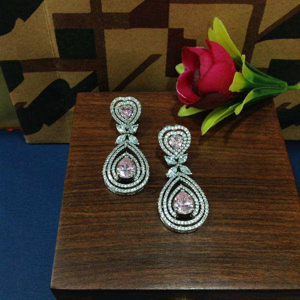 Queenly Divine Magenta Pink Crystal Earrings