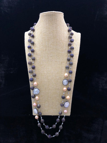 Incredible Indigo & Pearls Necklace