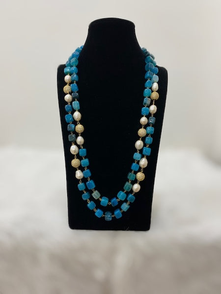Blue and Gemstone Necklace