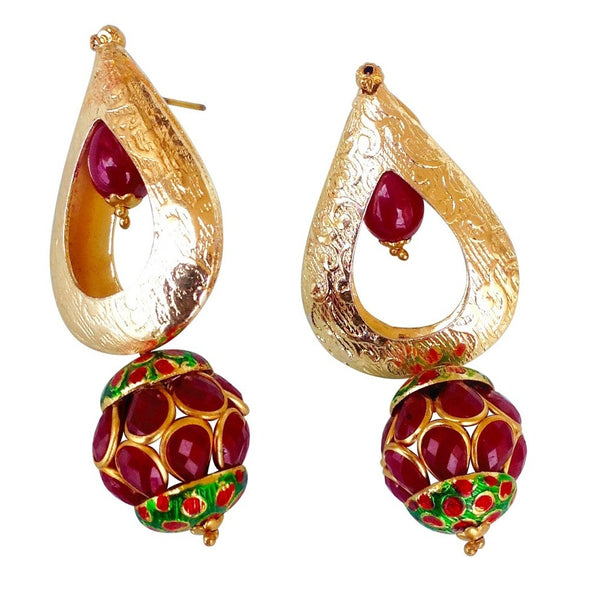Classy Red Rocks Earring [product_color]- Deara Fashion Accessories