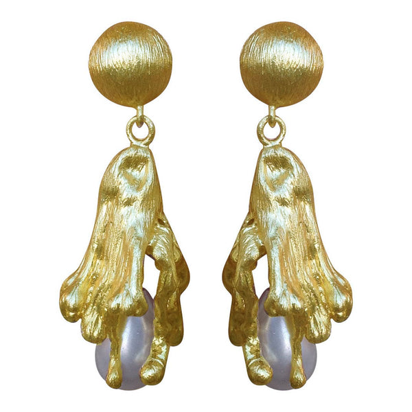 Golden Lava Earrings