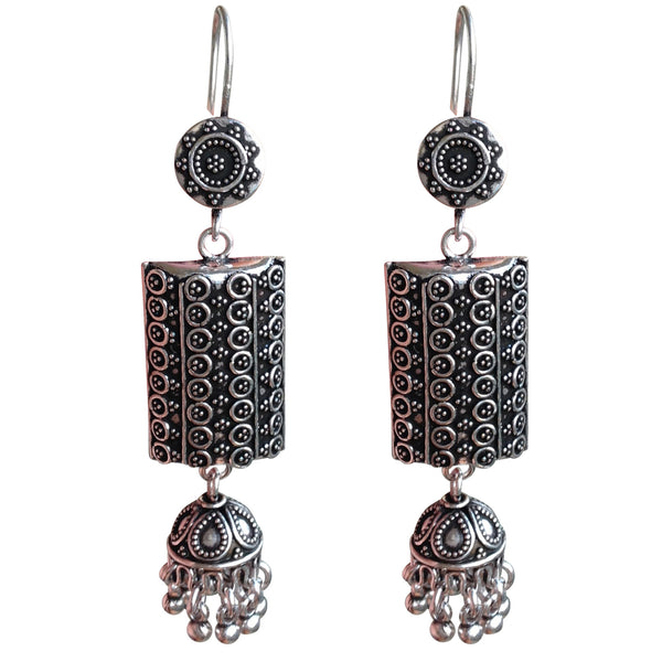 Vintage Silver Charm Earrings