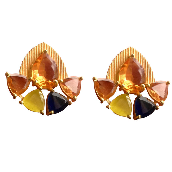 Citrine Sparkles Earrings Earring [product_color]- Deara Fashion Accessories