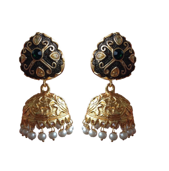Black Beloved jhumka Earrings