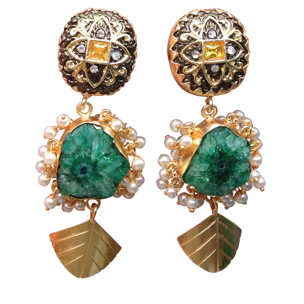 Gorgeous Green Earrings Earring [product_color]- Deara Fashion Accessories