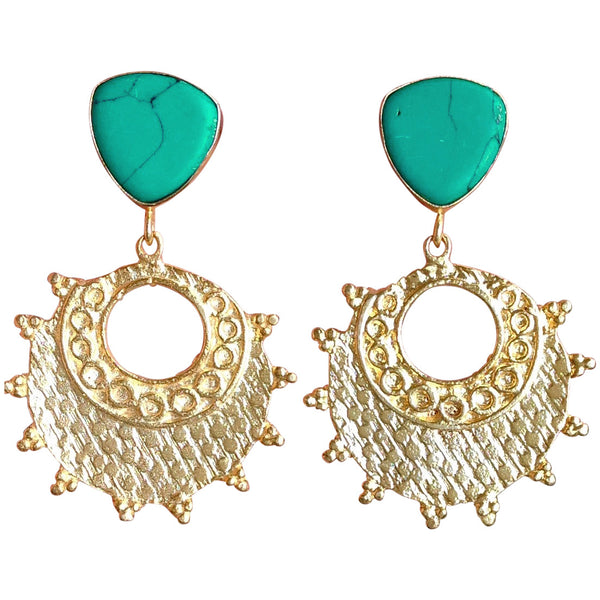 Plates of Gold Earrings