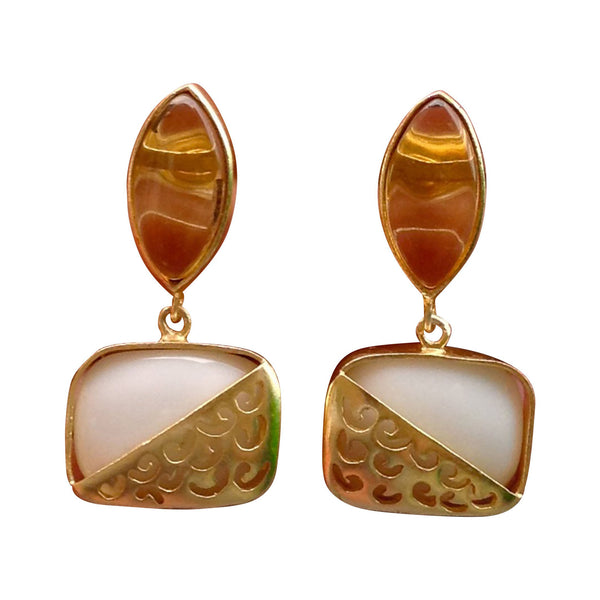 Caramel and Cream Earrings