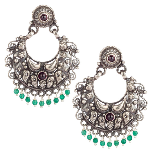 Twin-colour Silver Treat Earrings
