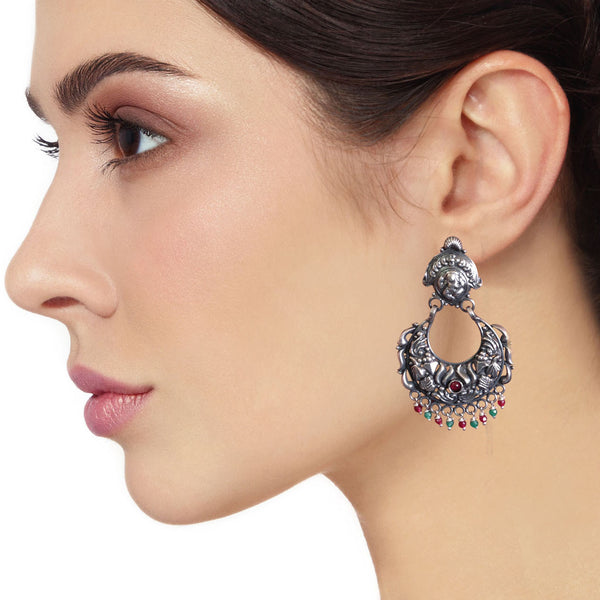 Silver Desire Chandbali Earrings